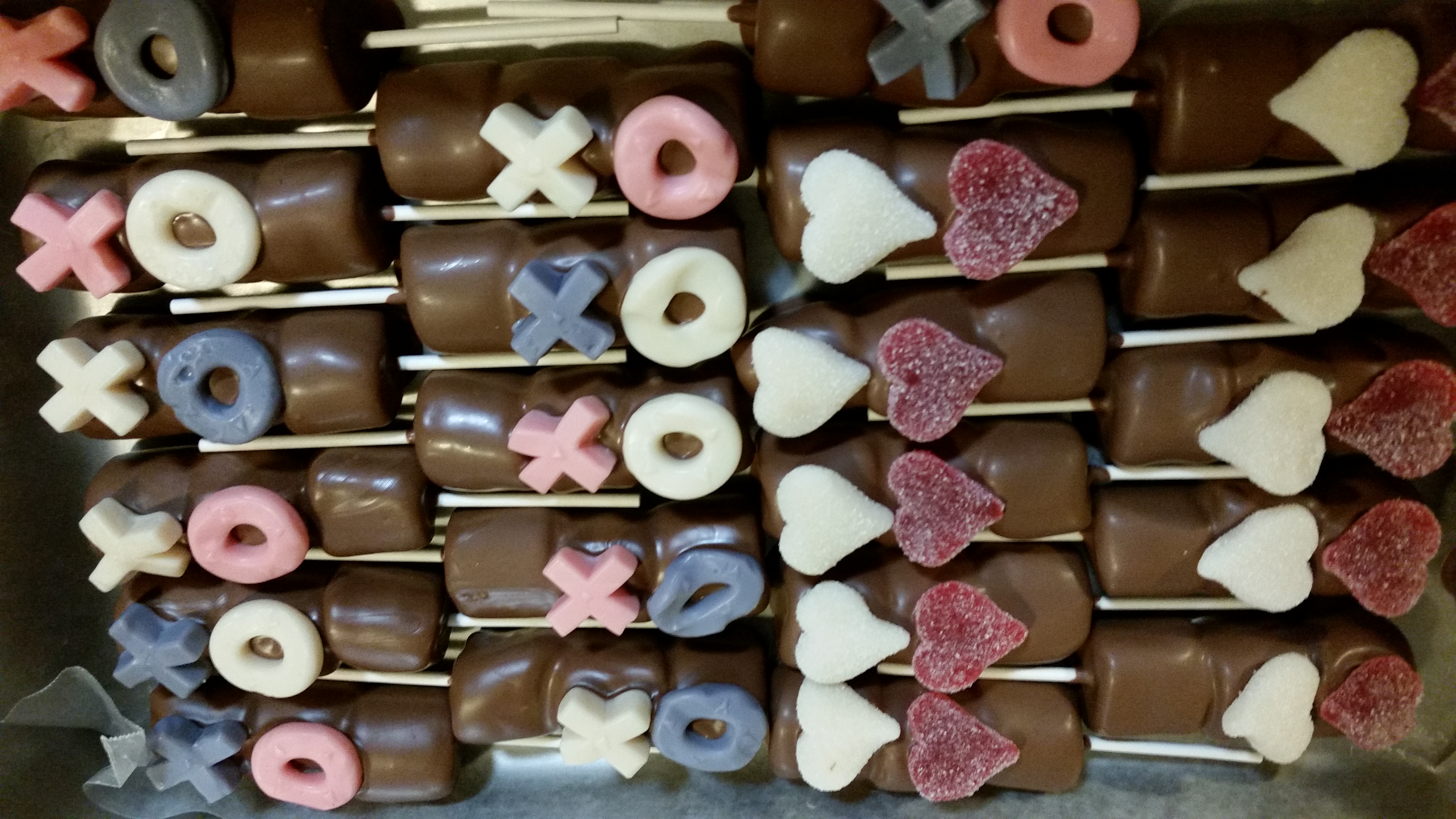 Valentines Chocolate Covered marshmallows