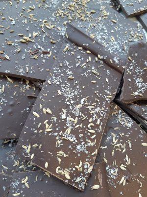Bark Dark Chocolate Anise seed fleur de sel