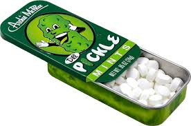 Dill Pickle Mints Open