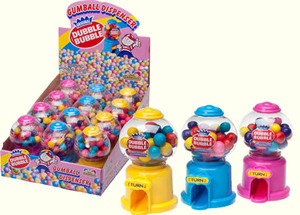 Dubble Bubble Mini Gum Ball display