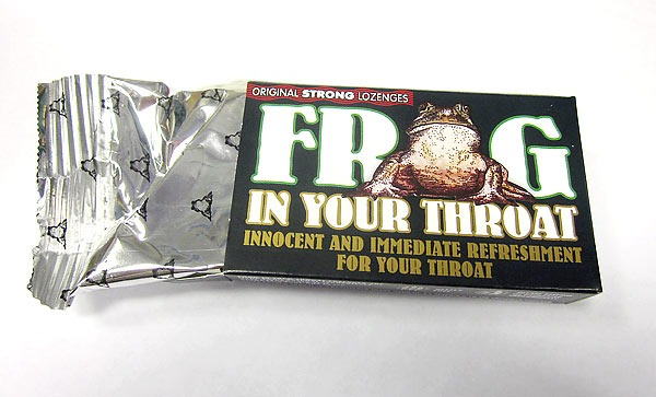 Frog in your throat Lozenges