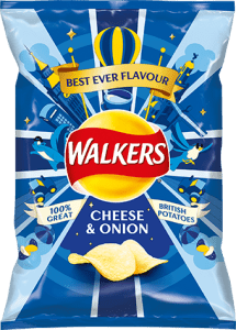 walkers cheese onion Chips