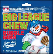 Big league Chew Snowman