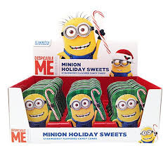 Christmas Minions Tins display