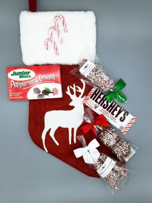 Peppermint Lovers Christmas Stocking