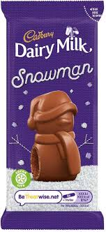 UK Cadbury Dairy Milk Snowman