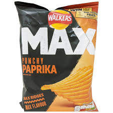 UK Walkers Crisps Max Punchy Paprika