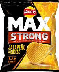 UK walkers crisps max strong Jalapeno Cheese