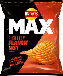 UK walkers crisps max strong hot chicken