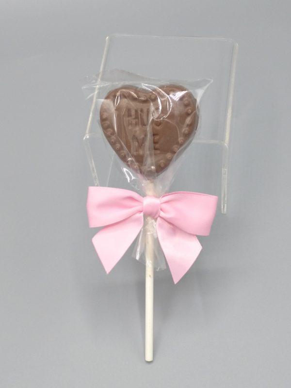 Chocolate Conversation Heart Sucker
