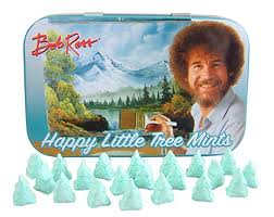 Tin Bob Ross Happy Little Tree Mints