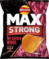 UK walkers crisps max strong hot chicken Wings